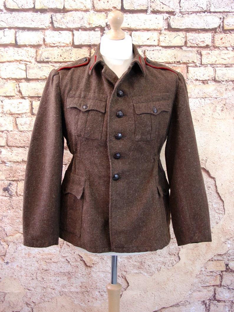 Soviet Military Surplus Wool Jacket Bulgarian Army Coat image 0