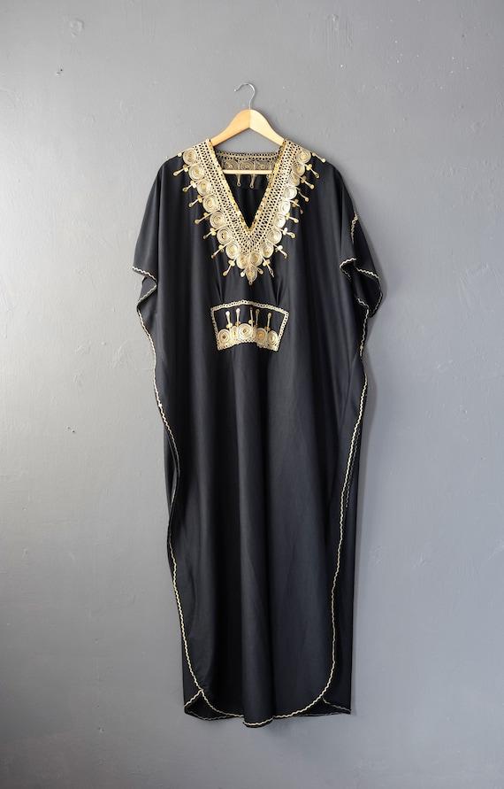 Vintage Caftan Beach Dress, Moroccan Style Holida… - image 1