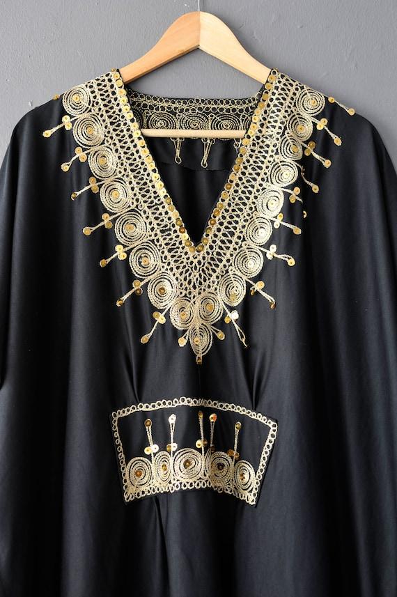 Vintage Caftan Beach Dress, Moroccan Style Holida… - image 4