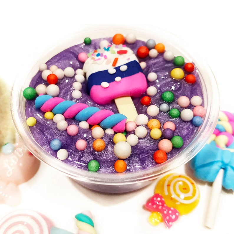 Marvelous Magik Grape Jello Birthday Cake Slime With Charm Glossy Butter Etsy Funny Birthday Cards Online Alyptdamsfinfo