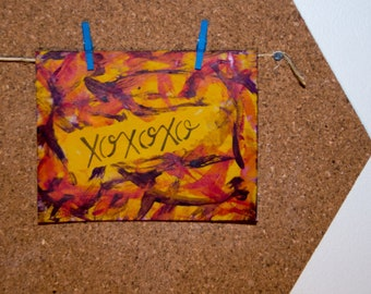 xoxoxo - handmade greeting card
