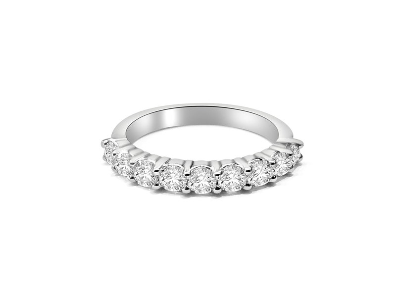 3305fddbd3a55 9 Stone Diamond Wedding Band