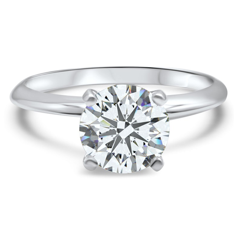 df8f012f6 CZ Cubic Zirconia engagement ring 14K Solid Gold Swarovski | Etsy