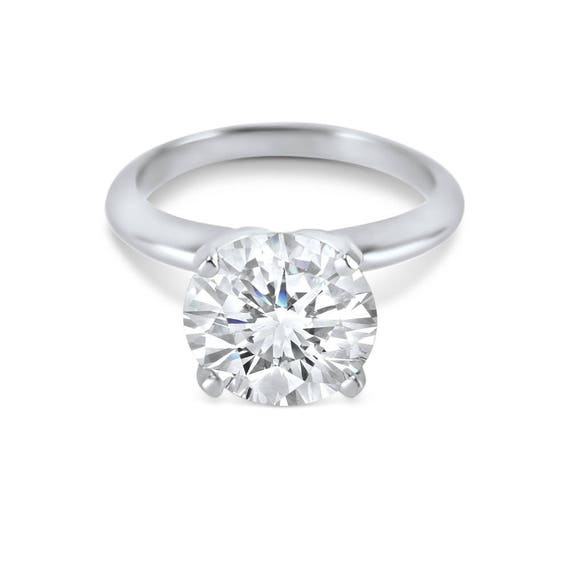 Mother's Day Real Solid 14K White Gold 3//4 Ct Square Cut Solitaire Wedding Ring