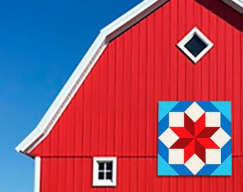 """Eight Squares Pattern Outdoor BARN QUILT __ 24"""", 35"""", 48"""", 70"""" __ Flexible Aluminum"""