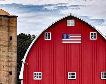"American Flag Outdoor Aluminum Sign 35""x66"" Barn Quilt"