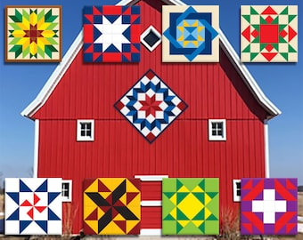 Barn Quilts - BIG! and small - Many Designs - Custom Personalization