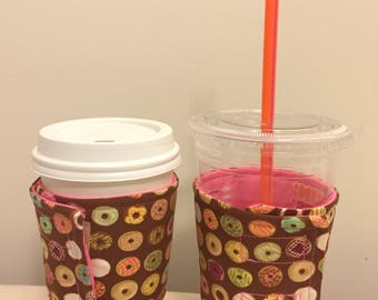 Quilted coffee sleeve - Donuts