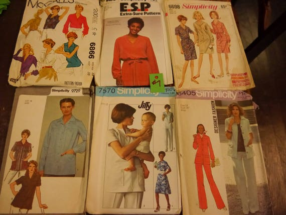 U PICK Lot #2 Vintage Sewing Patterns  60/'s-70's Dresses Skirts Jackets Pants