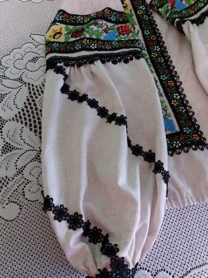 Ukraine bead embroidery ukrainian blouse beads Ukrainian embroidery embroidered blouse women blouse beadwork women top beaded blouse