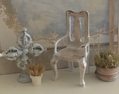 Miniature Reimagined Gustavian Chair for a Dollhouse 1 12 Scale