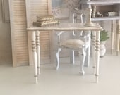 Miniature Reimagined Gustavian Foyer Table or Desk for a Dollhouse 1 12 Scale