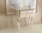 Miniature Reimagined Gustavian High 4-Drawer Desk for a Dollhouse 1 12 Scale