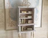 Miniature Reimagined High Gustavian Bookcase or Hutch for a Dollhouse 1 12 Scale