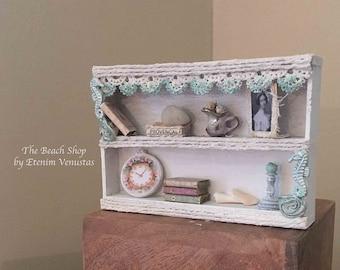 Miniature Seahorse Hutch for a Beach House or Shop Display ~ Beachside & Company Furnishings by Etenim Venustas ~1:12 Scale