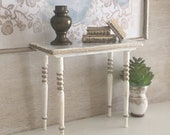 Miniature Reimagined Foyer Table or Desk for a Dollhouse 1 12 Scale