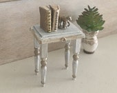 Miniature Reimagined Gustavian Table or Plant Stand for a Dollhouse 1 12 Scale