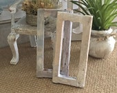 Miniature Frames, One Pair, as Reimagined Gustavian Decor for a Dollhouse - 1 12 Scale