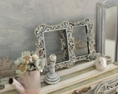 Miniature Whitewashed Frame as Reimagined Gustavian Decor 1 12 Scale