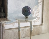 Miniature Reimagined High Gustavian Table or Plant Stand for a Dollhouse 1 12 Scale