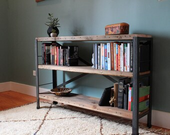 the bucktown bookcase reclaimed wood bookshelf - Reclaimed Wood Bookshelves