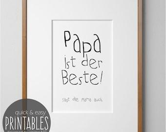 Wandbild Fur Papa Vatertagsgeschenk Vatertag Geschenk Zum Etsy