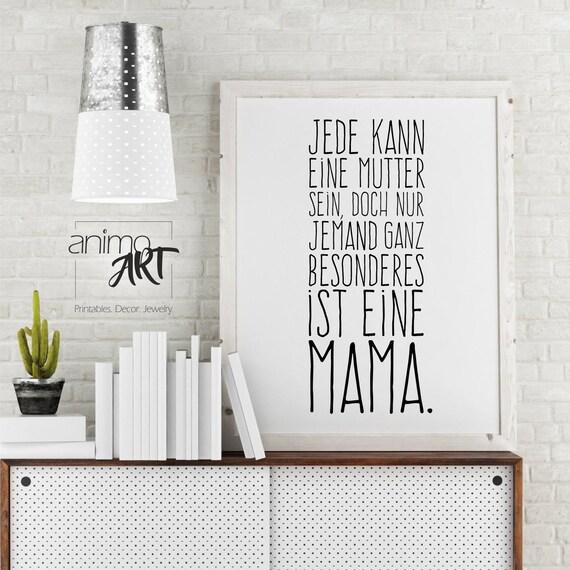 Muttertag Wandbild Für Mama Muttertagsgeschenk Geschenk Für Etsy