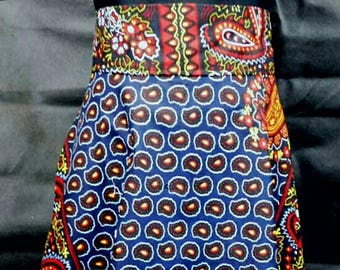 African material   High low  skirt
