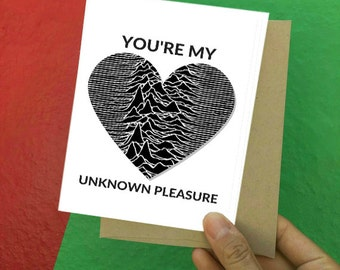 I love you Card - Love Card - Just because - Friendship Cards - Joy Division - Happy Birthday - Valentines Day - Valentines Day Card