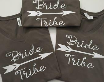 Bride tribe v neck shirts/bridesmaid gift/bachelorette party