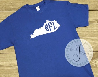 Kentucky monogrammed tee