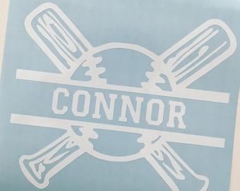 Baseball name vinyl decal