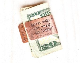 Money Clip Music Teacher Gift for Men Music Gifts for Him Music Graduation Gift Musical Gift for Him Musical Gift for Men Music Gift Ideas