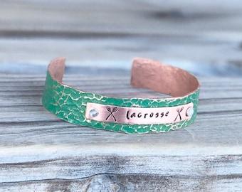 Personalized Lacrosse Bracelet, Personalized Lacrosse Gift Ideas for Her, Lacrosse Mom Bracelet, Gift for Lacrosse Player, Lacrosse Gifts