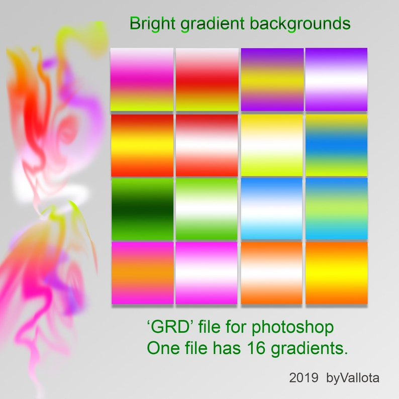 Rainbow Gradient for Photoshop  GRD file  Bright gradient background