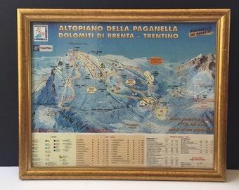 Vintage Ski Map Etsy - Vintage ski maps