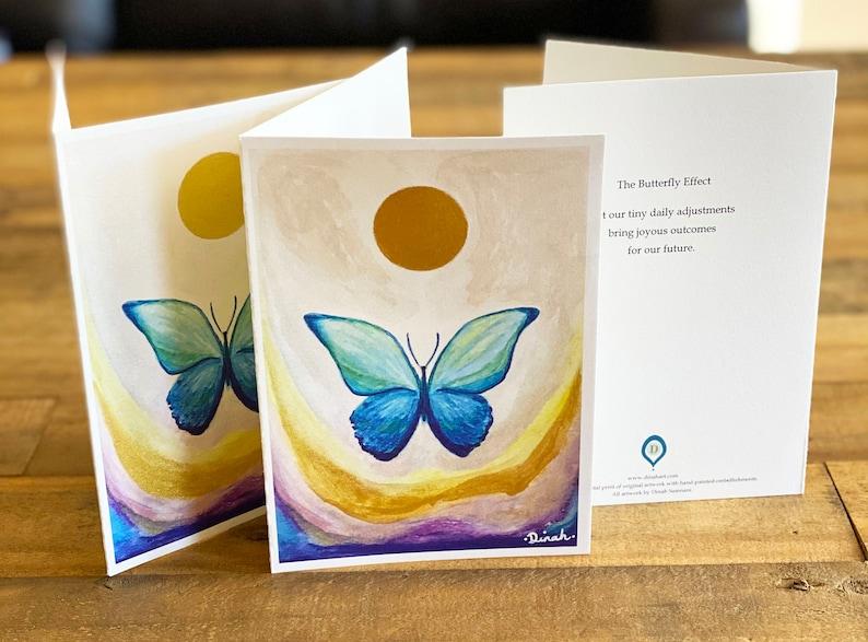 Limited Edition 2021 An Original Art Gold Painted Butterfly 5 x 7 Art Card Multipurpose Art Card Giclee