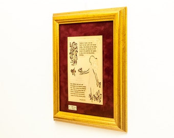 Woman Of Valor 22K Gold Finished Artwork Bible Gifts Religious Art Home Decor Gifts for Her Available in Spanish
