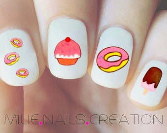 Donuts Nail Decals