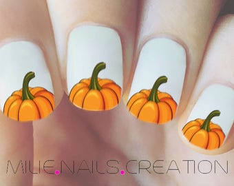 Thanksgiving Pumpkin Nail Decal