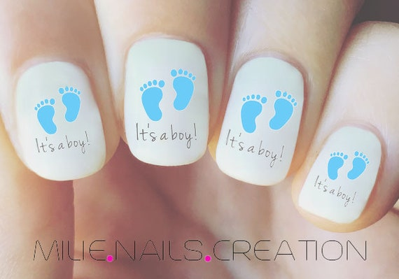 It S A Girl It S A Boy Nail Decal