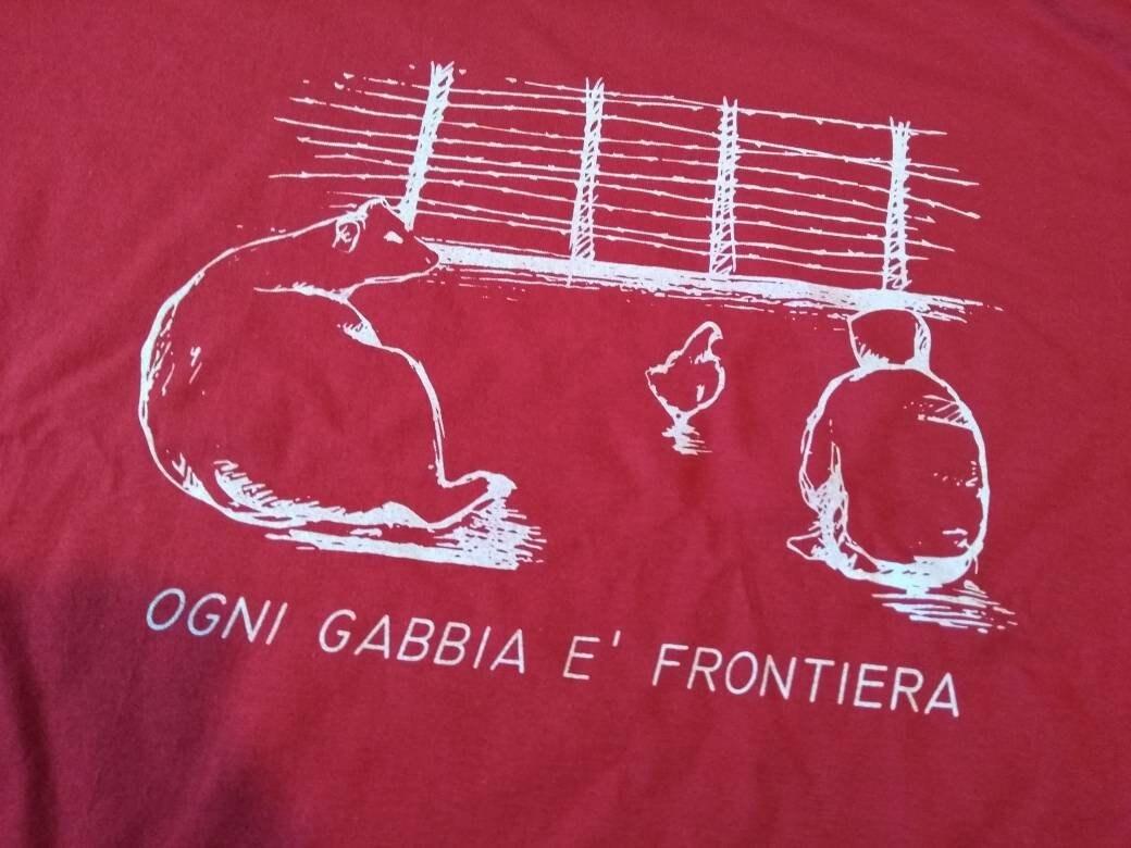 Animal de chemise chemise chemise libération végétalien «chaque cage est» 5cbb12
