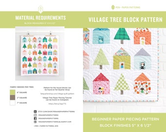 Village Tree PDF Block Pattern
