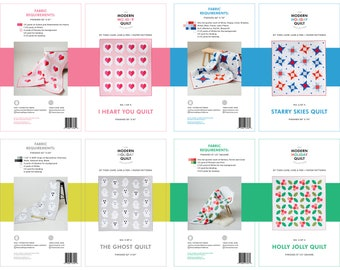 Modern Holiday Quilt Collection Bundle