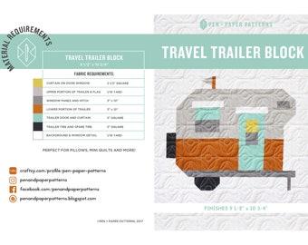 Travel Trailer PDF Block Pattern