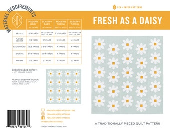 PDF Fresh as a Daisy Quilt Pattern