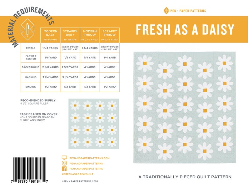 PDF Fresh as a Daisy Quilt Pattern image 0