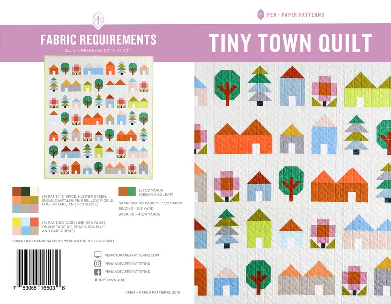 Tiny Town PDF Quilt Pattern image 0