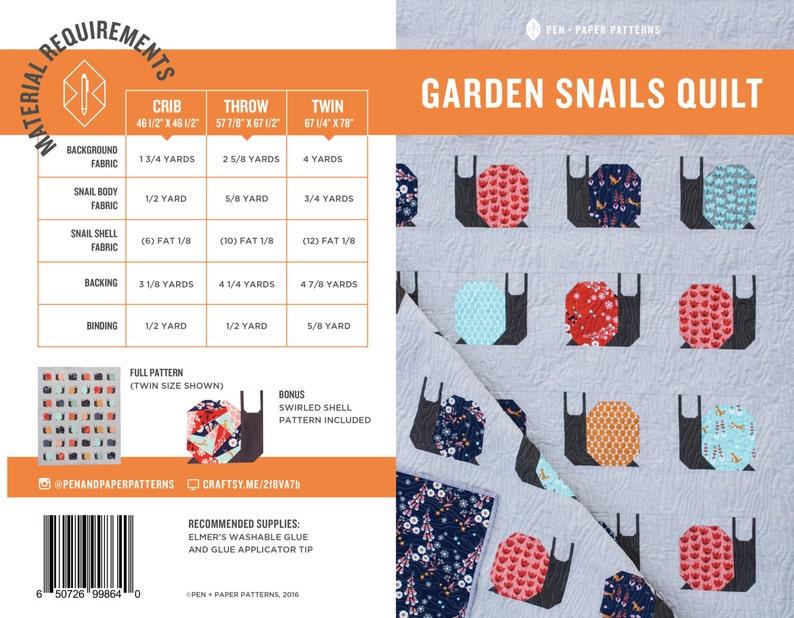 PDF Garden Snails Pattern image 0