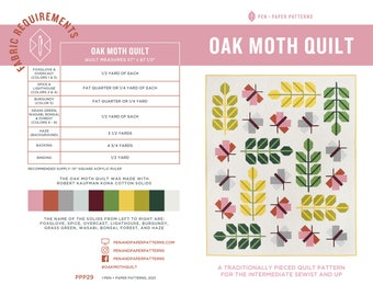 PDF Oak Moth Quilt Pattern